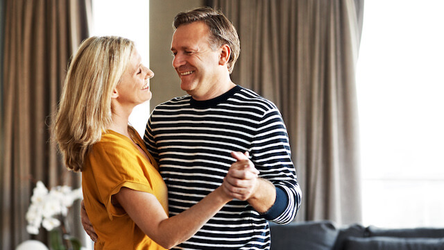 Happy couple dancing - hormone replacement therapy image