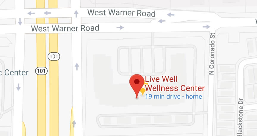 aerial map of live well wellness center